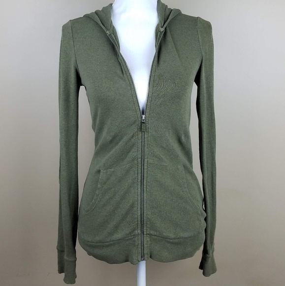J. Crew Tops - J. Crew Army Green Zip Up Hoodie Sweatshirt